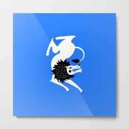 Dancing Beasts: Lion Metal Print