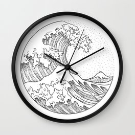Great Wave Wall Clock