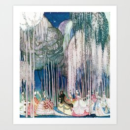 Kay Nielsen - Twelve Princesses Who Get Out Of The Castle And Dance To The Magical Kingdom Art Print