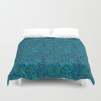paisley Duvet Covers featuring  paisley  by Ariadne