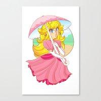princess peach Canvas Prints featuring Princess Peach by zamii070