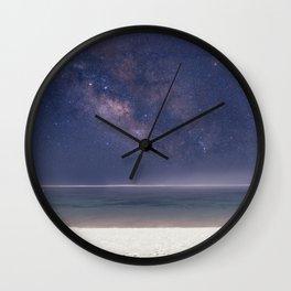 The Milky Way On Bali Beach Wall Clock