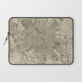 Vintage Map of Baltimore MD (1919) Laptop Sleeve