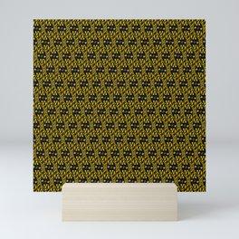 Filmstrip Art Deco Scat Cat Black Silver Copper Design Pattern Mini Art Print