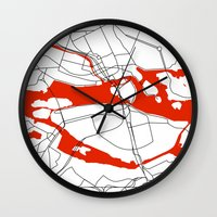 sweden Wall Clocks featuring Stockholm Sweden. by Studio Tesouro