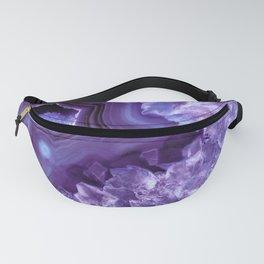 Purple Lavender Quartz Crystal Fanny Pack