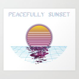 Killstream Sunset Art Print