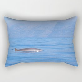 Beaked whale in the mist Rectangular Pillow