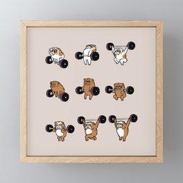 OLYMPIC LIFTING English Bulldog Framed Mini Art Print