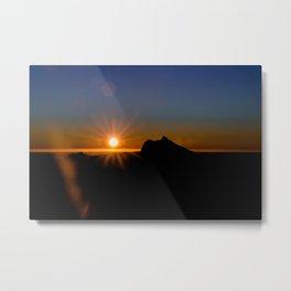 Sunrise view of Mt Warning, NSW Metal Print