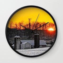 Mid-Winter Sunrise Wall Clock