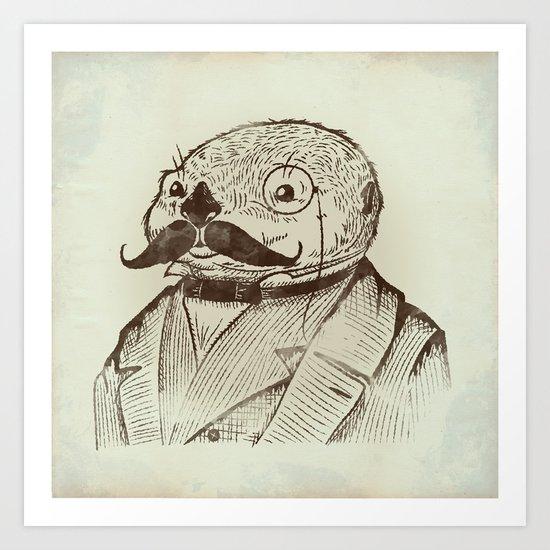 Proper Mr. Otter Art Print