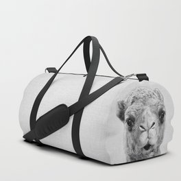 Camel - Black & White Duffle Bag