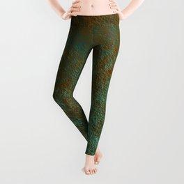 Green Patina Copper rustic decor Leggings