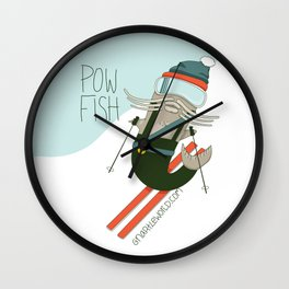 Pow Fish Wall Clock
