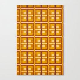Autumn Gold Plaid Canvas Print