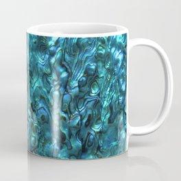Abalone Shell   Paua Shell   Cyan Blue Tint Coffee Mug