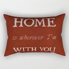 """""""Home"""" Print Rectangular Pillow"""