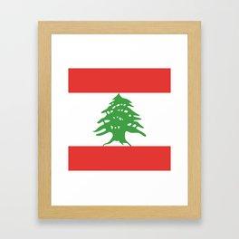 Lebanon flag emblem Framed Art Print