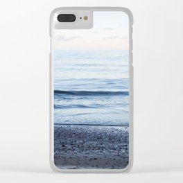 Calm waves, pastel sunset Clear iPhone Case