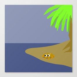 The sunny beach Canvas Print