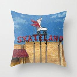 Skateland Throw Pillow