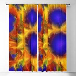 Neon Sunflowers Blackout Curtain
