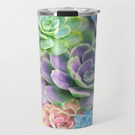 Rainbow Succulents Travel Mug