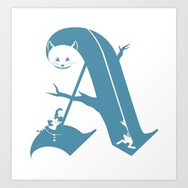 A is for Alice Art Print