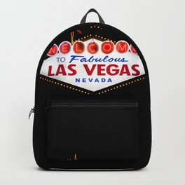 Welcome to Fabulous Las Vegas vintage sign neon on dark background  Backpack