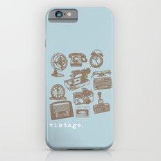 blue vintage  iPhone 6s Slim Case