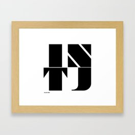Type Type for INTJ Framed Art Print