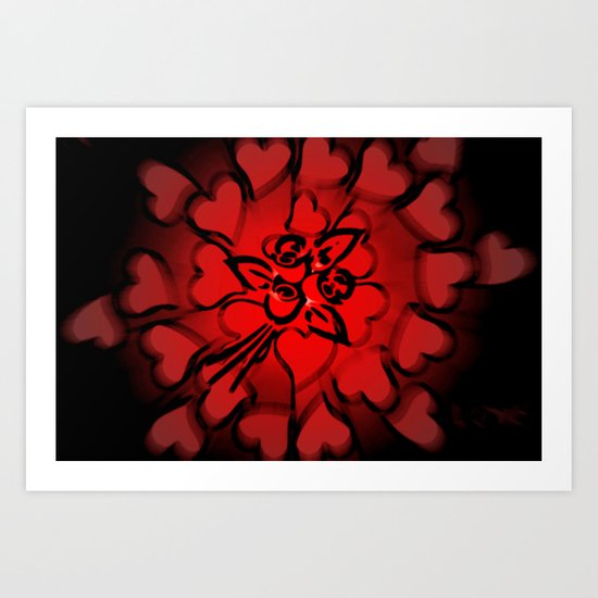 In love. Art Print