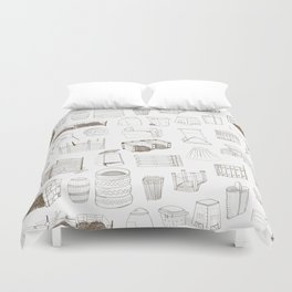 Cover, Contain, COMPOST- 1 of 3 Duvet Cover
