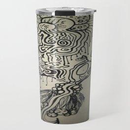 Alien Ink Doodle Travel Mug