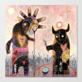 Conjuration of the fylgja Canvas Print