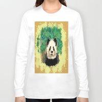 splatter Long Sleeve T-shirts featuring Splatter Panda by grapeloverarts