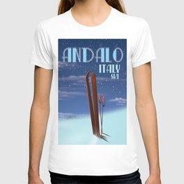 Andalo Italy ski poster T-shirt
