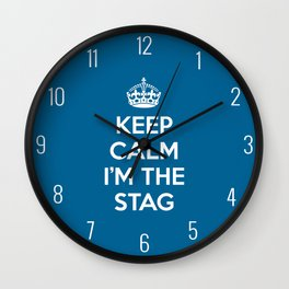 Keep Calm Stag Quote Wall Clock
