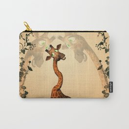 Funny giraffe  Carry-All Pouch