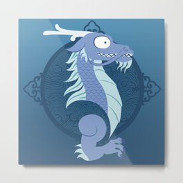 Silly Beasty: East Asian Dragon Metal Print