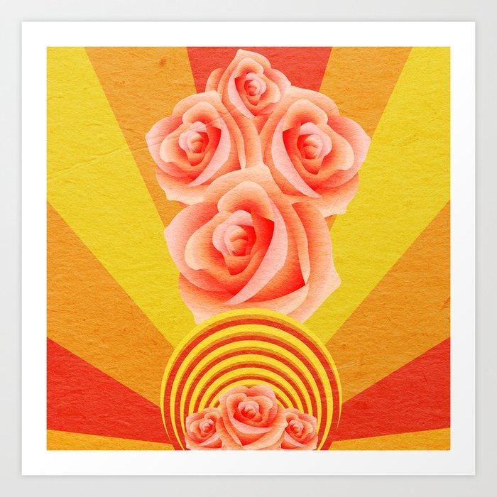 A Rose Burst Art Print