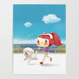 Road Running Poster