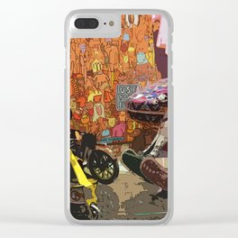 Vintage Toys Clear iPhone Case