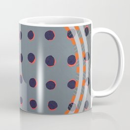 Green Floats on Yellow - orange circle Coffee Mug