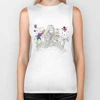 kris tate Biker Tanks featuring ECHOES by Peter Striffolino and Kris Tate by Peter Striffolino