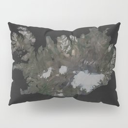Iceland Map Low Poly Style Wanderlust Pillow Sham