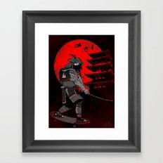 Skater Samurai Framed Art Print