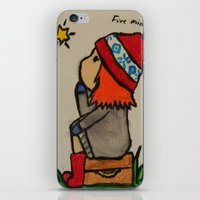 amy pond iPhone & iPod Skins featuring Young Amy Pond by Beth Anderson