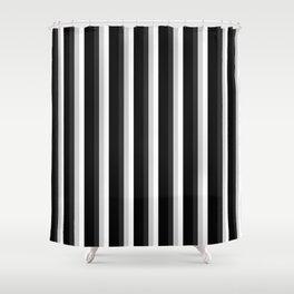STRIPES Black Gray & White Ombre Shower Curtain